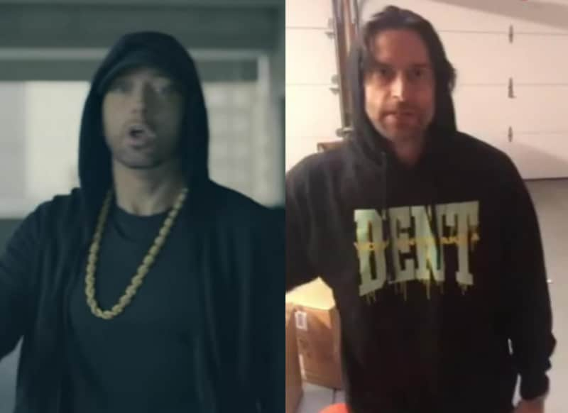 Eminem In The Cypher See His And Chris D Elia S Footage Side By Side