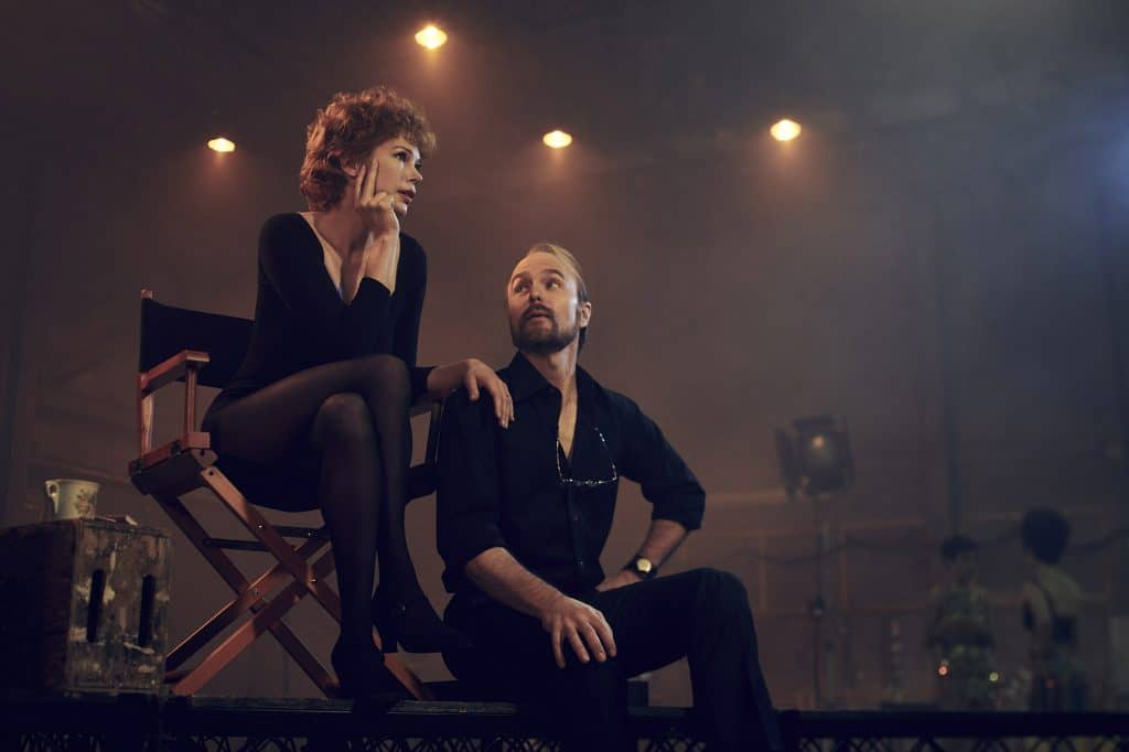 Michelle Williams as Gwen Verdon and Sam Rockwell as Bob Fosse in Fosse/Verdon