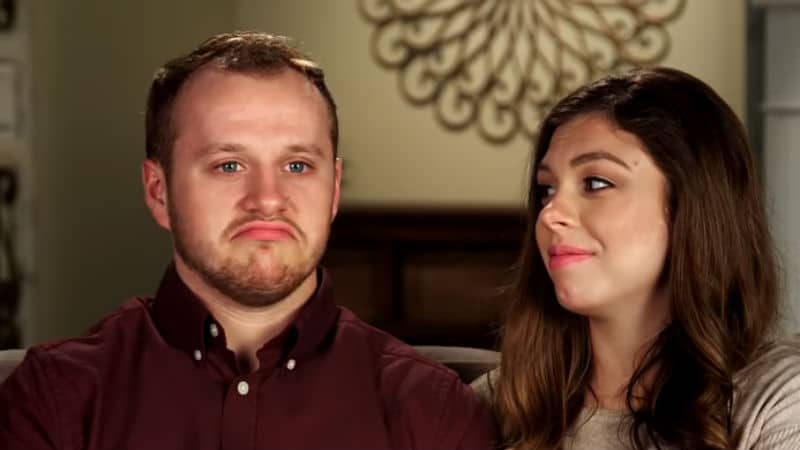 Josiah and Lauren Duggar during a confessional on Counting On