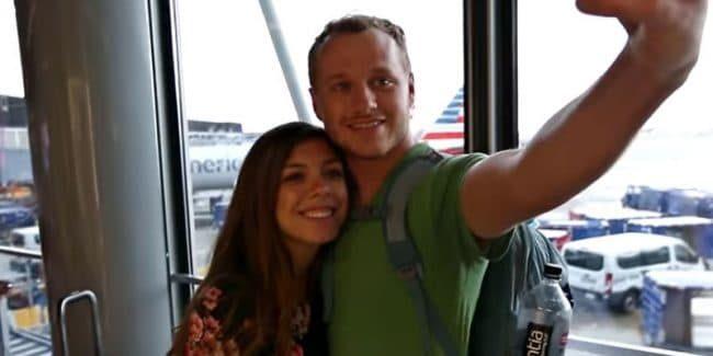 Josiah and Lauren on their honeymoon