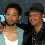 JUSSIE SMOLLETT and TERRENCE HOWARD attend the 2017 FOX Upfront held Wollman Rink in Central Park.