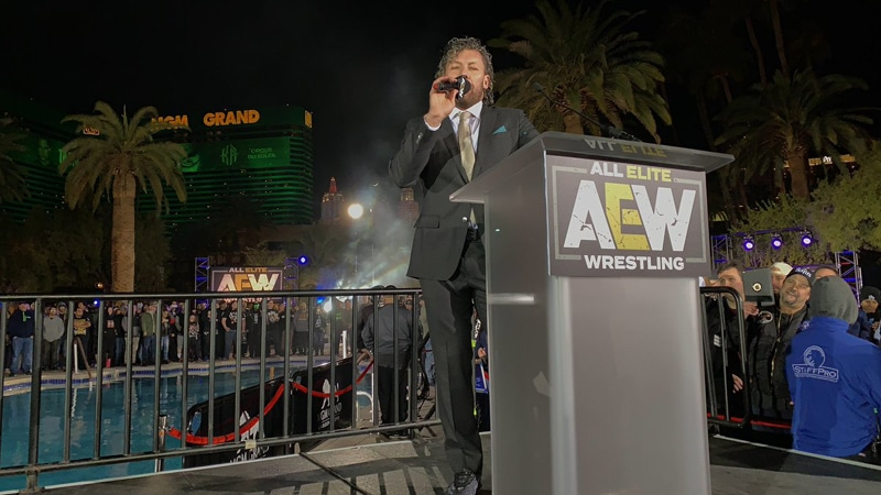 Kenny Omega officially joins All Elite Wrestling at the AEW Double or Nothing rally, Chris Jericho spoils the party