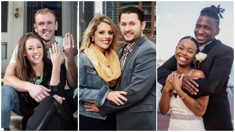 Three Married at First Sight couples that are still married - Jamie and Doug, Ashley and Anthony and  Shawniece and Jephte