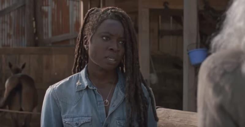 Danai Gurira as Michonne on The Walking Dead cast.