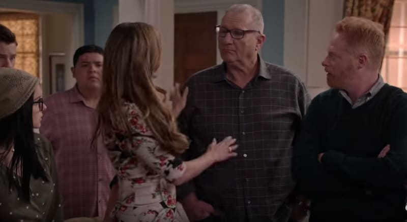 Modern Family cast during Season 10 of show