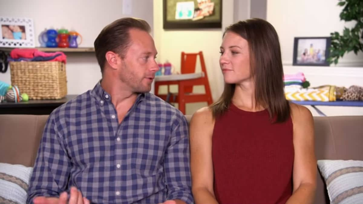 Adam and Danielle Busby in the OutDaughtered confessional