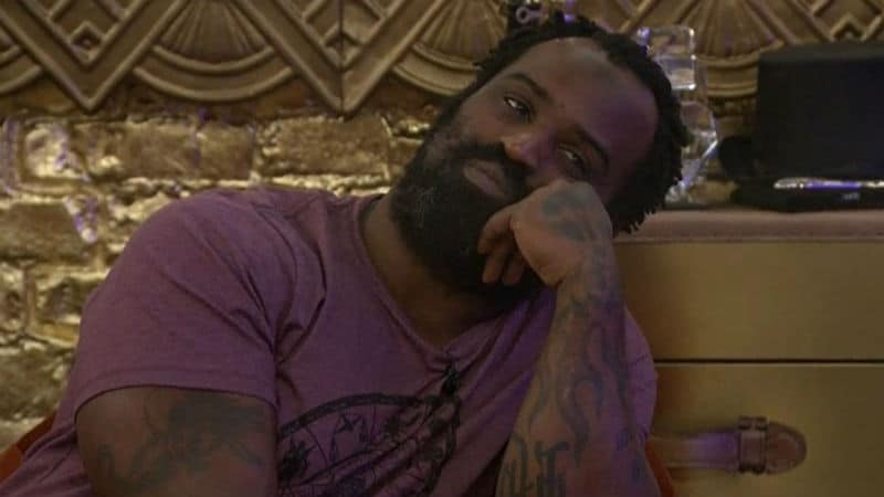 Ricky Williams in the Celebrity Big Brother house