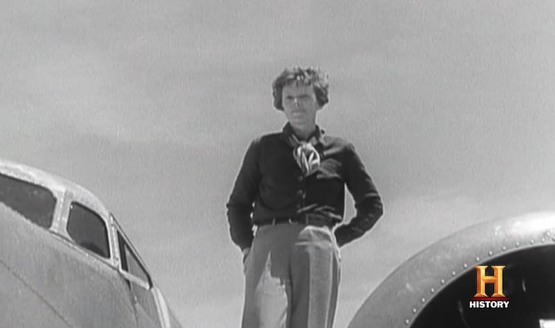 Amelia Earhart in footage from The Lost Evidence.