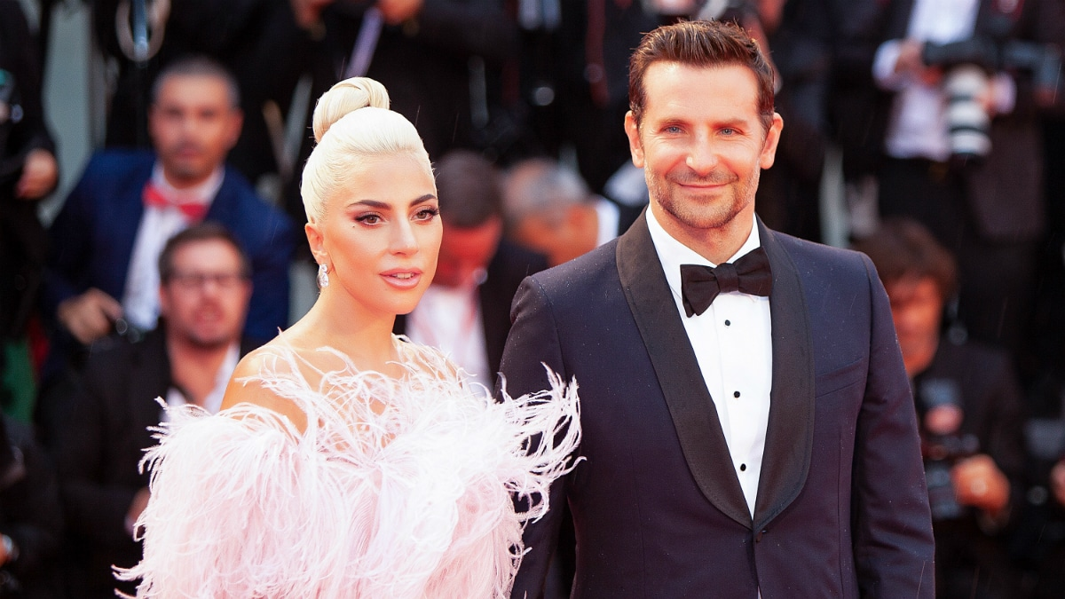 Bradley Cooper and Lady Gaga walk the red carpet ahead of the 'A Star Is Born' screening during the 75th Venice Film Festival at Sala Grande