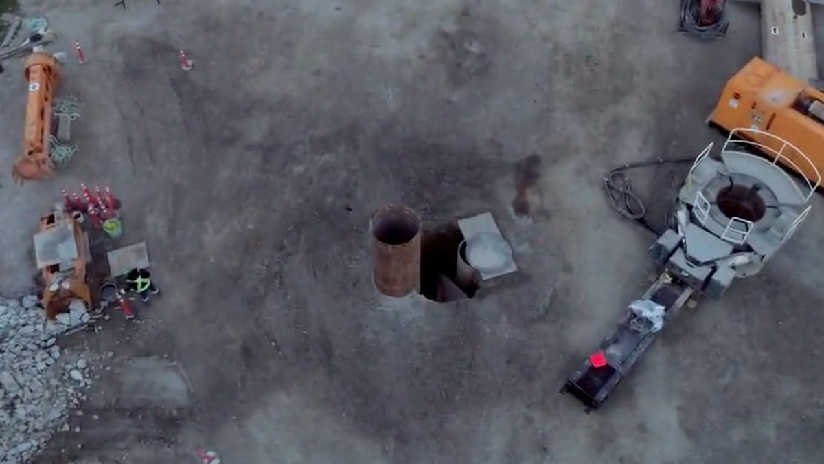 Sinkhole viewed from above