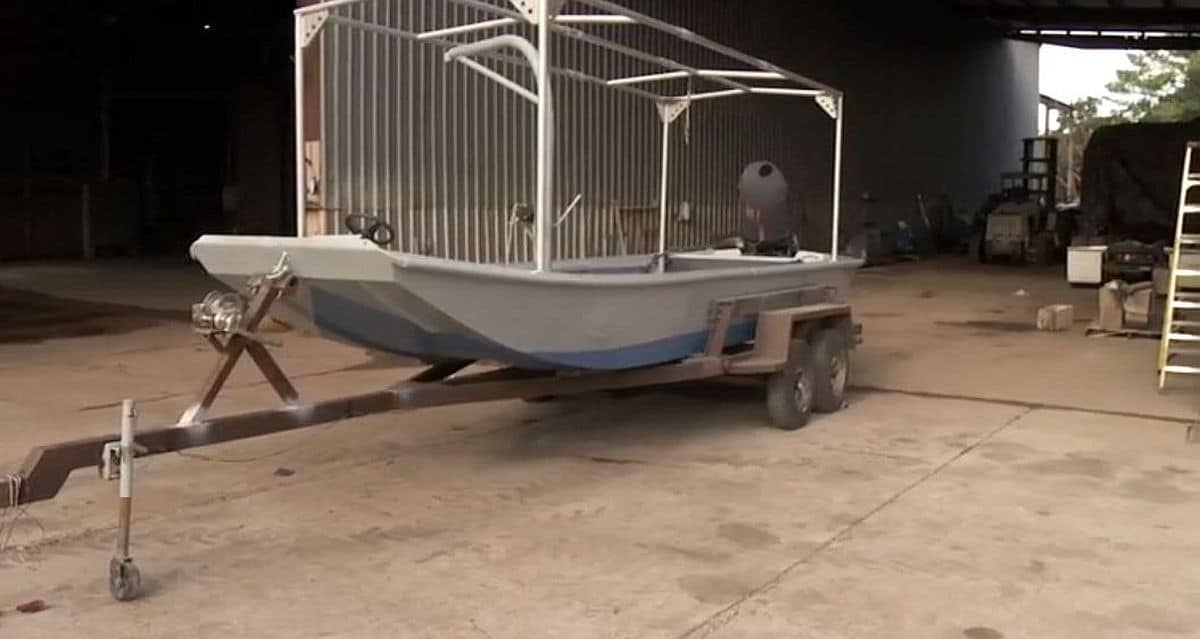 Frenchy's boat looks good! Welds held and the paint has cayenne in it. Pic credit: History