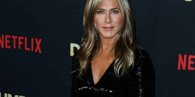 Brad Pitt attended Jennifer Aniston's 50th birthday party at the Sunset Tower Hotel
