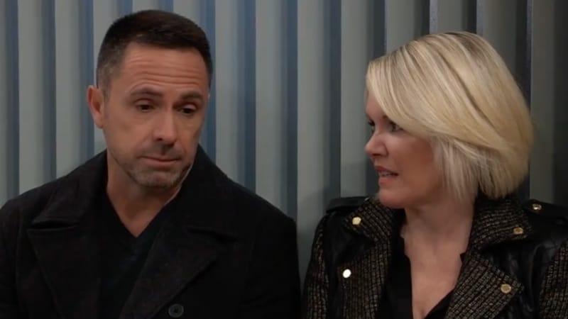 Julian and Ava talking on General Hospital