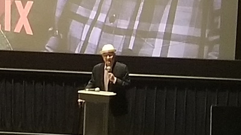 Norman Lear on stage at the TCA 2019 Winter Tour screening of One Day at a Time