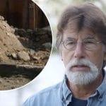 Rick Lagina and concrete at Smith's Cove