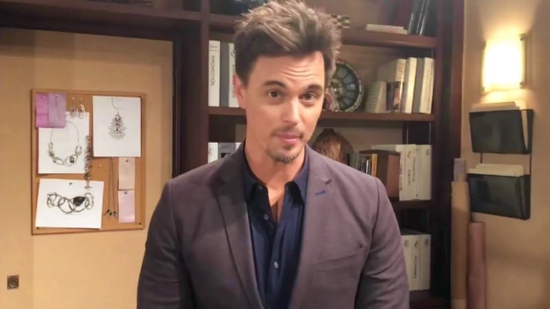 Darin Brooks, who plays Wyatt, talking to camera about The Bold and the Beautiful