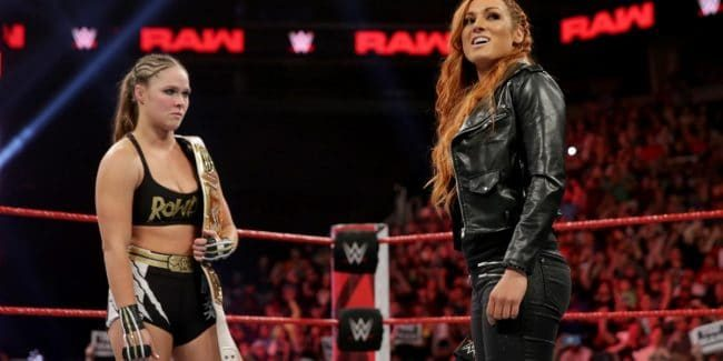 Becky Lynch and Ronda Rousey