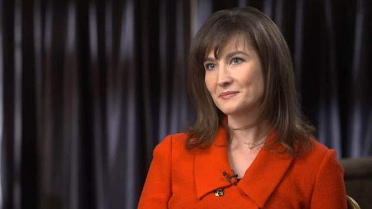 Catherine Werner tells 60 Minutes about her brain attack while overseas. Pic credit: 60 Minutes/CBS