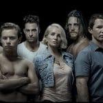 Ellen Barkin, Shawn Hatosy, Scott Speedman, Jake Weary, Ben Robson, and Finn Cole in Animal Kingdom