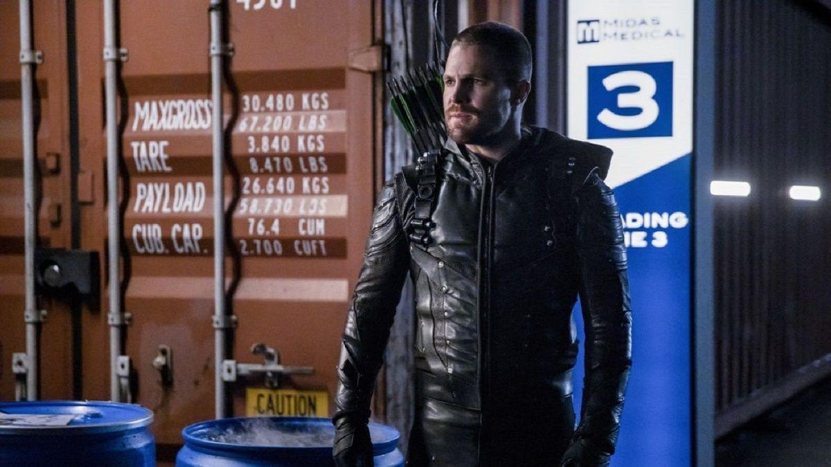 Stephen Amell as the Green Arrow in Arrow.