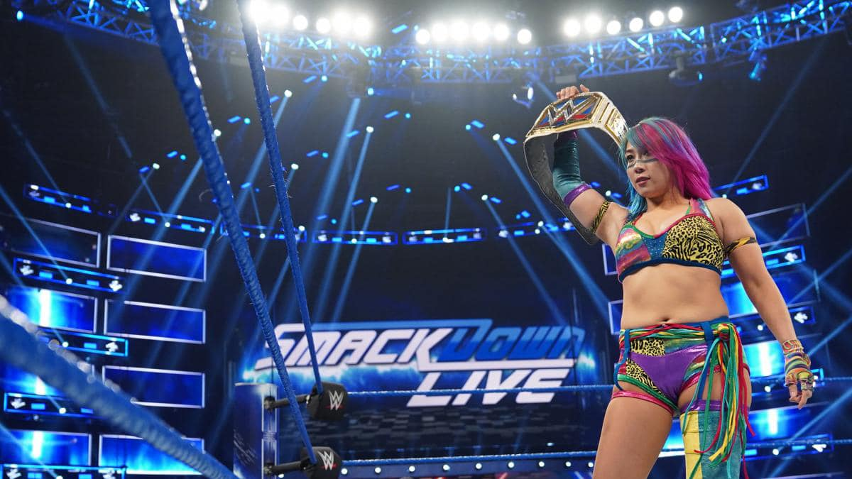 WWE roster shows anger over Asuka losing title to Charlotte Flair ahead of WrestleMania 35