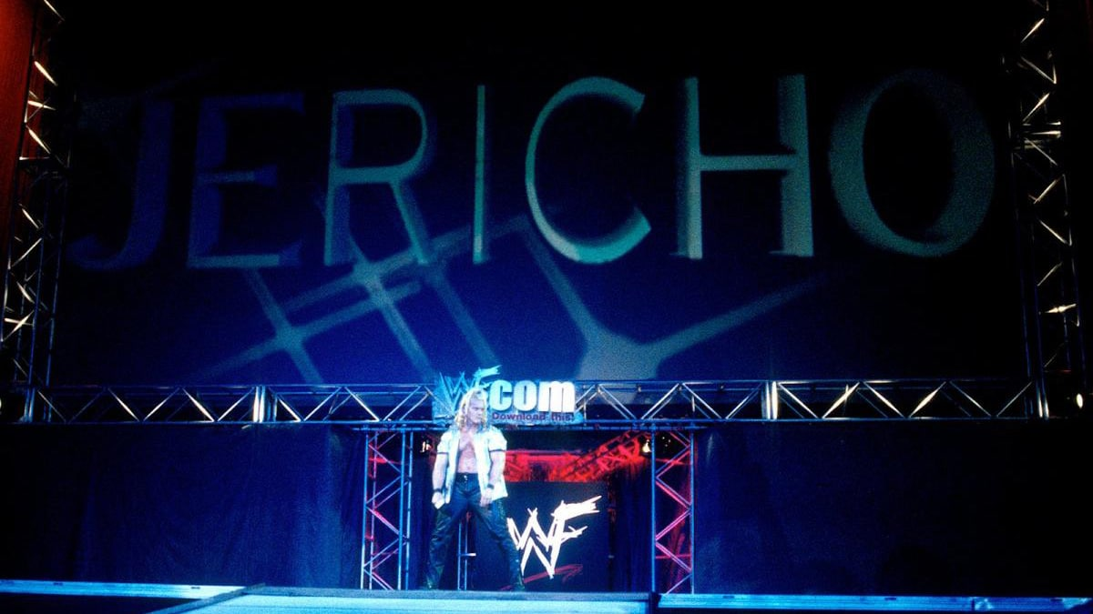 Chris Jericho entering the WWE ring