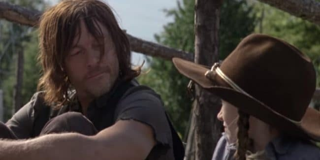 Norman Reedus and Cailey Fleming on The Walking Dead Season 9 cast.