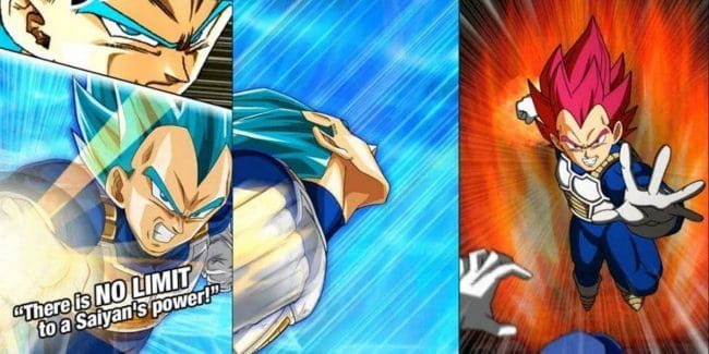 Dragon Ball Z Dokkan Transforming Vegeta card's super attacks shown for global JP battle game