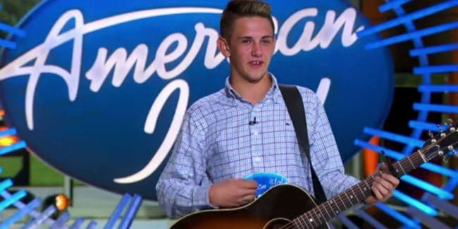 Ethan Payne during his American Idol audition
