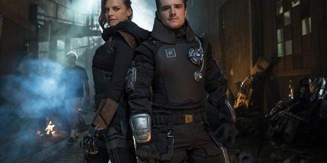 Josh Hutcherson and Eliza Coupe in Future Man