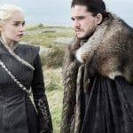 Kit Harrington and Emilia Clarke in Game of Thrones