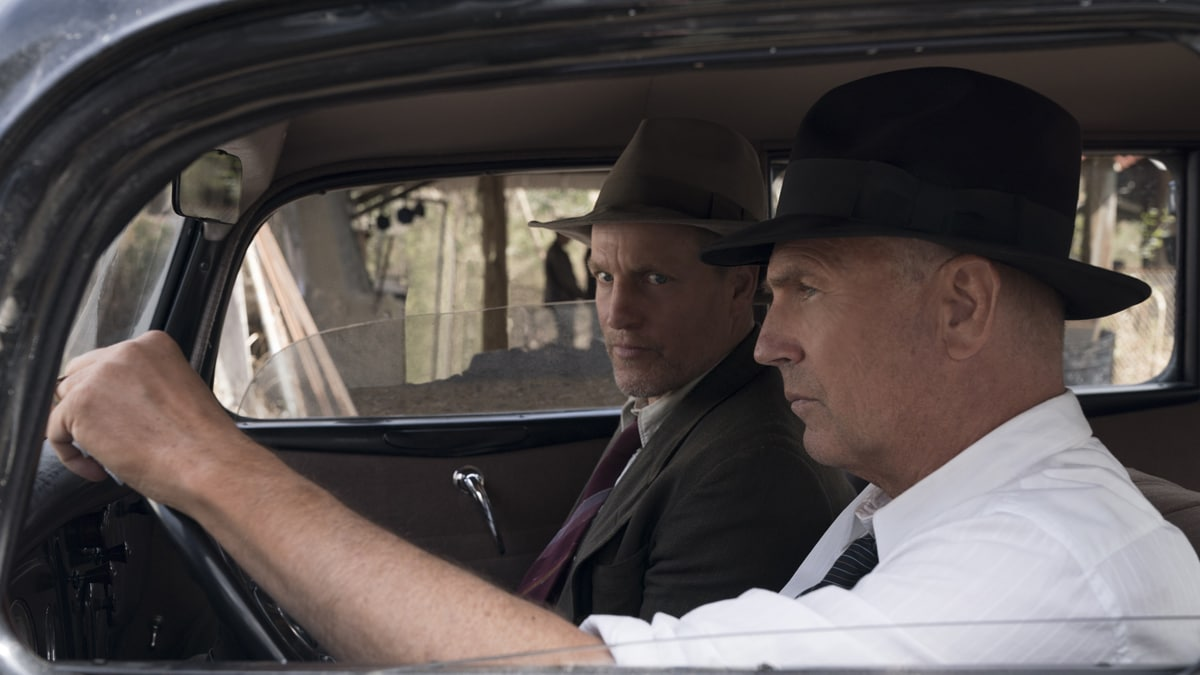 Woody Harrelson and Kevin Costner in The Highwaymen on Netflix