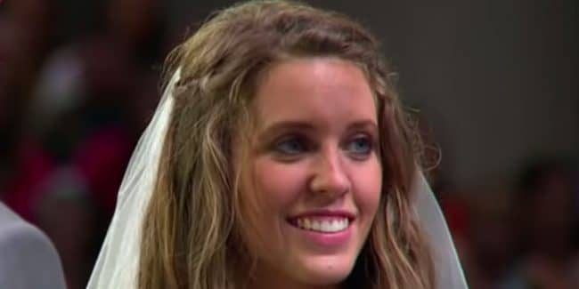 Jill Duggar at her wedding