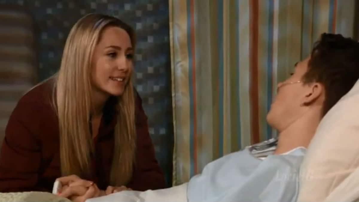 Eden McCoy and Garren Stitt as Joss and Oscar on General Hospital
