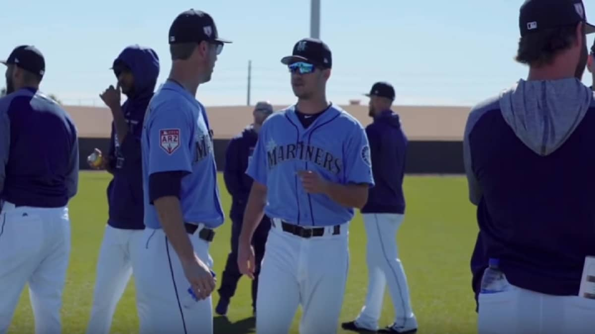 Seattle Mariners starting pitchers Marco Gonzales and Wade LeBlanc.