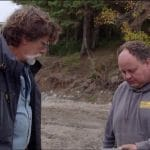Bill Gerhardt shares his find with Marty Lagina on Curse of Oak Island
