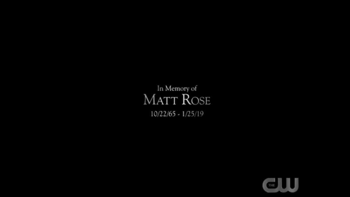 Matt Rose Legacies