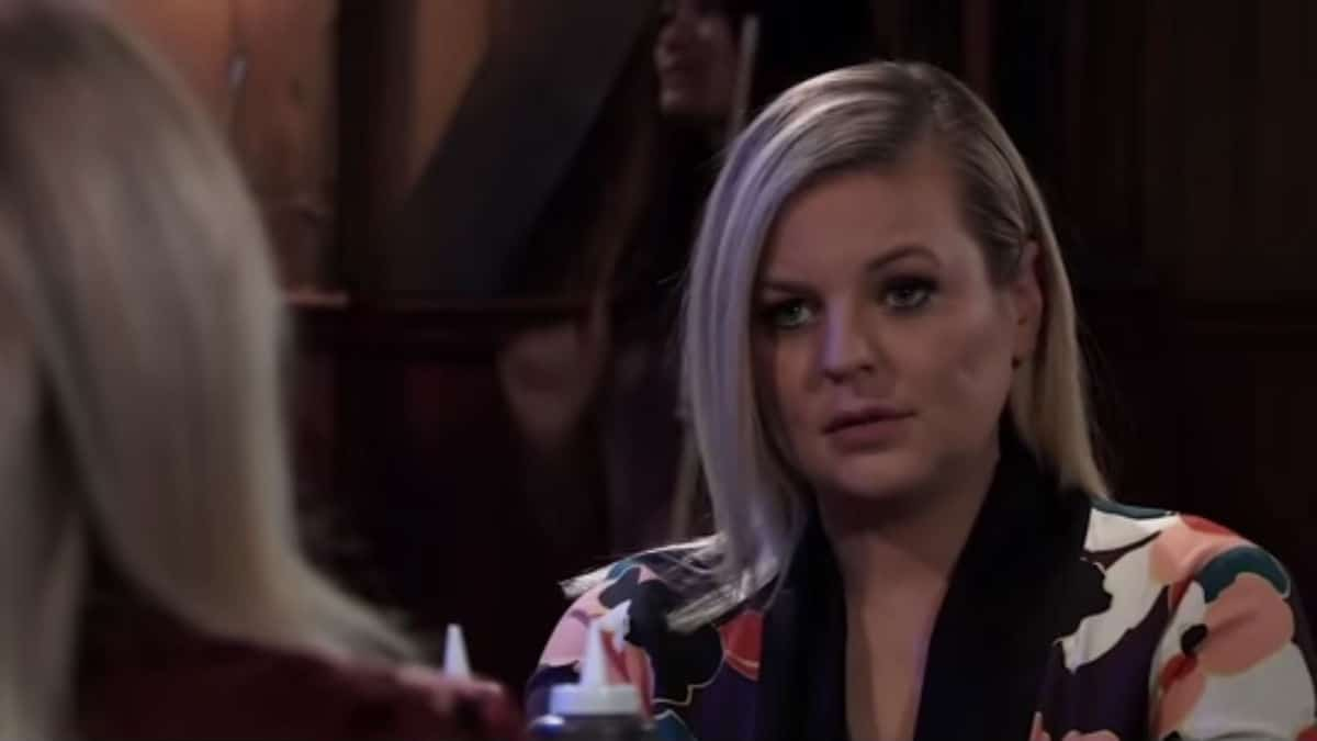 Kirsten Storms as Maxie at the Floating Rib on General Hospital