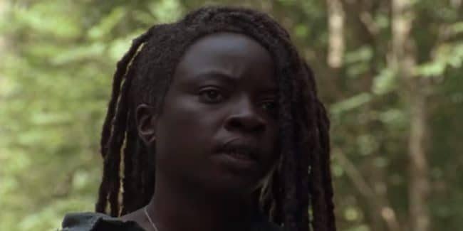 Danai Gurira as Michonne on The Walking Dead cast