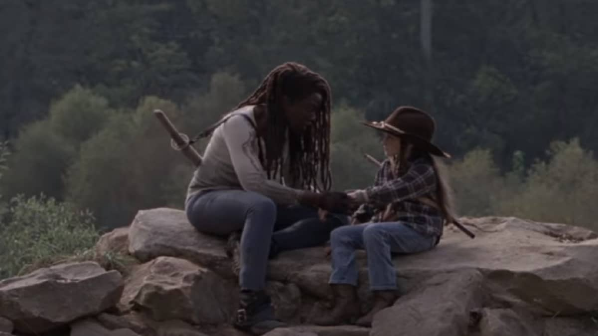 Michonne and Judith Grimes as part of The Walking Dead cast.