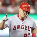 Mike Trout with the Los Angeles Angels.