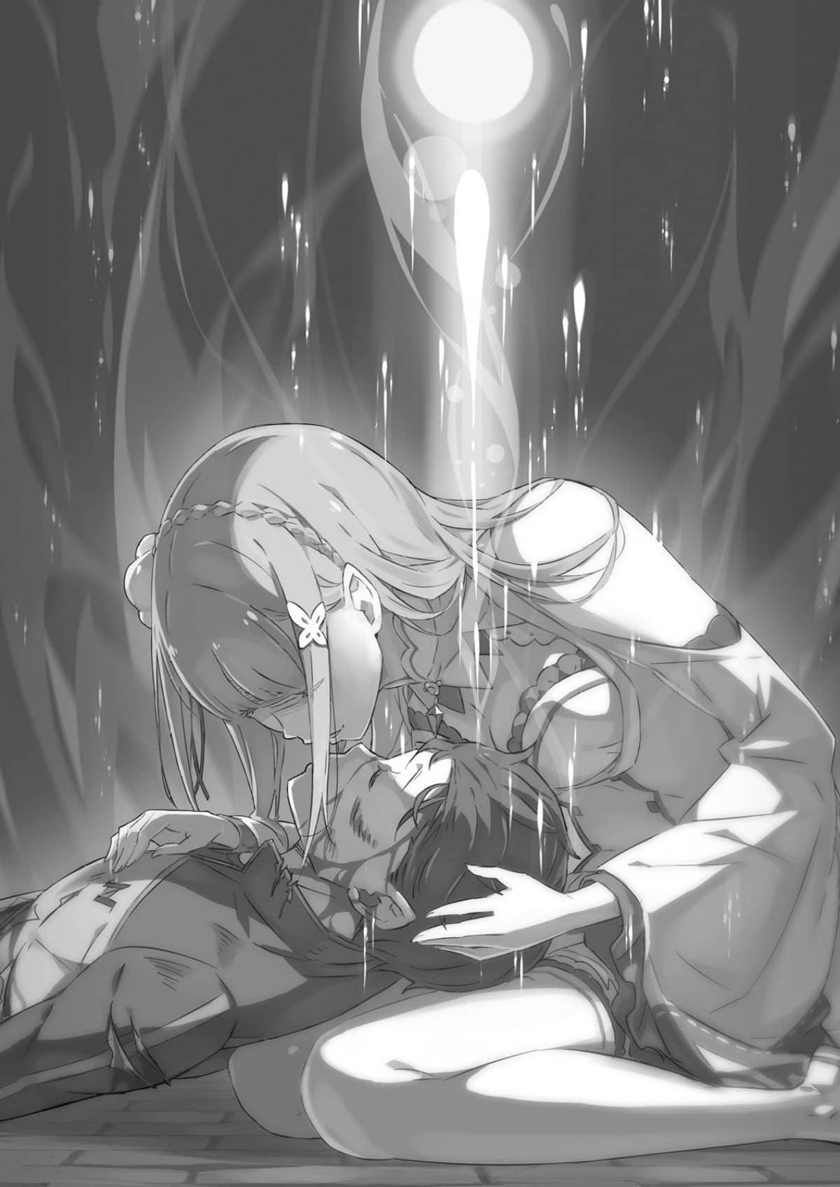 Re Zero Subaru Emilia Kiss