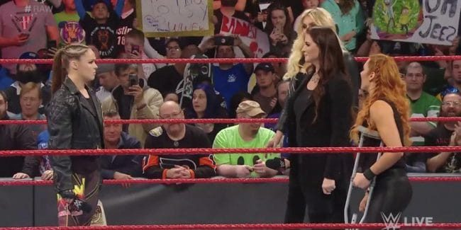 Ronda Rousey turns heel when Stephanie McMahon changes the WWE WrestleMania 35 Raw women's match