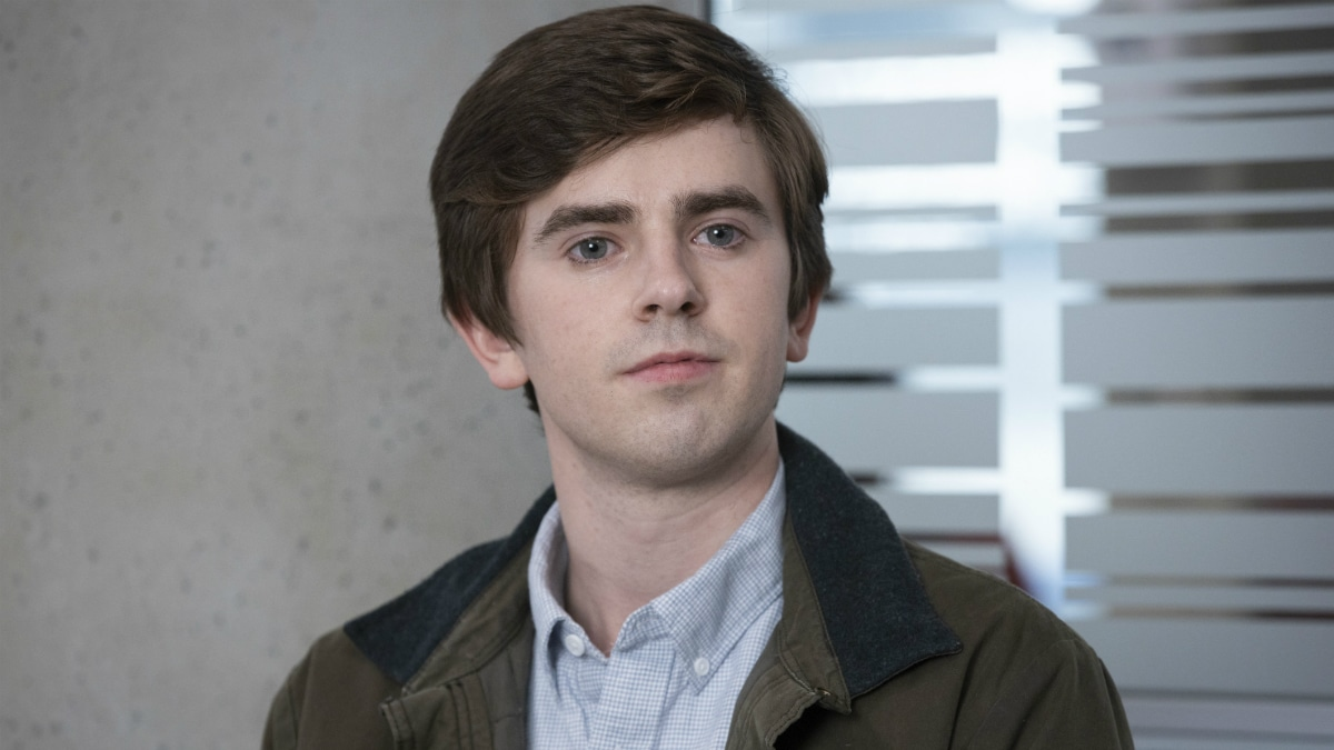 Freddie Highmore as Dr. Shaun Murphy on The Good Doctor