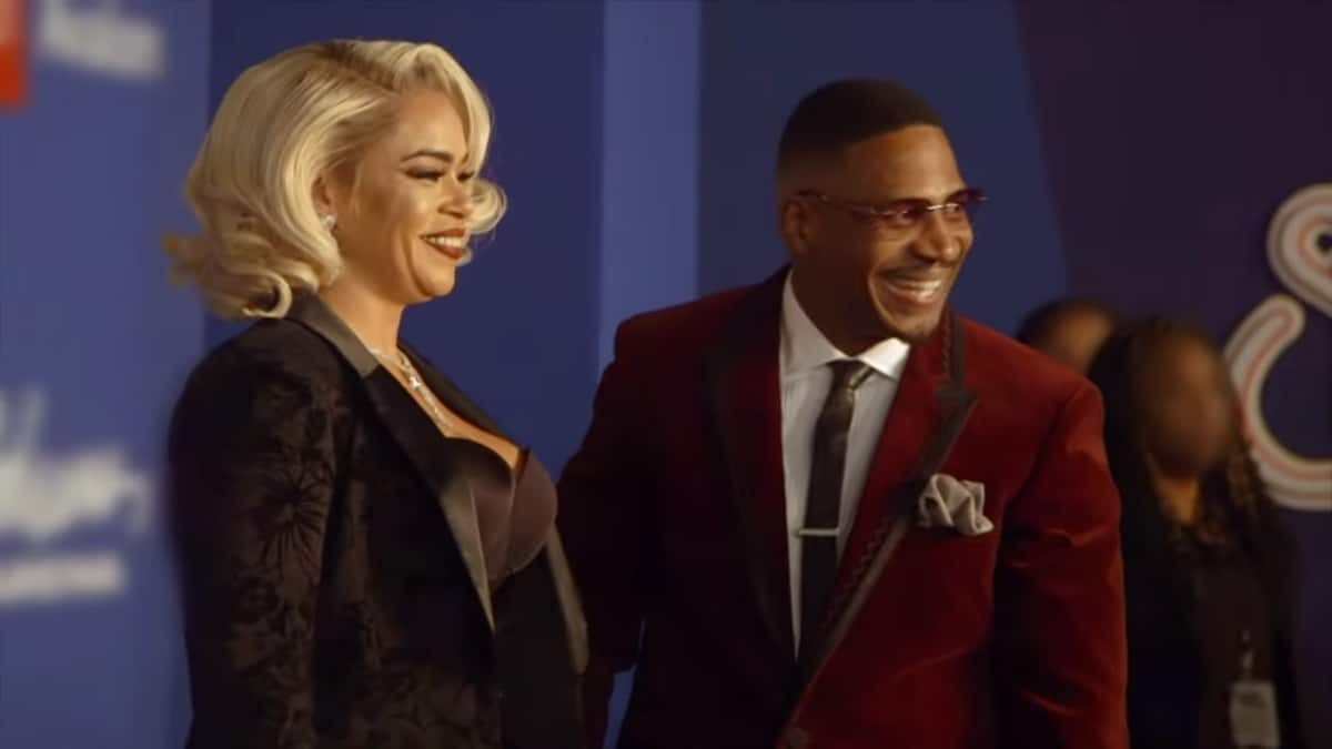 Faith Evans and Stevie J hitting the red carpet together for the first time as a married couple