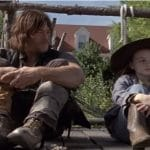 Daryl Dixon and Judith Grimes during Season 9 of The Walking Dead