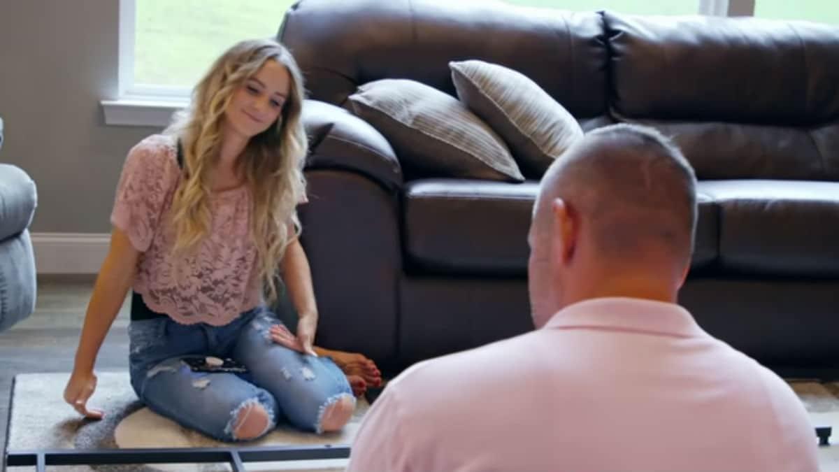 Leah Messer and Jason Jordan while filming Teen Mom 2