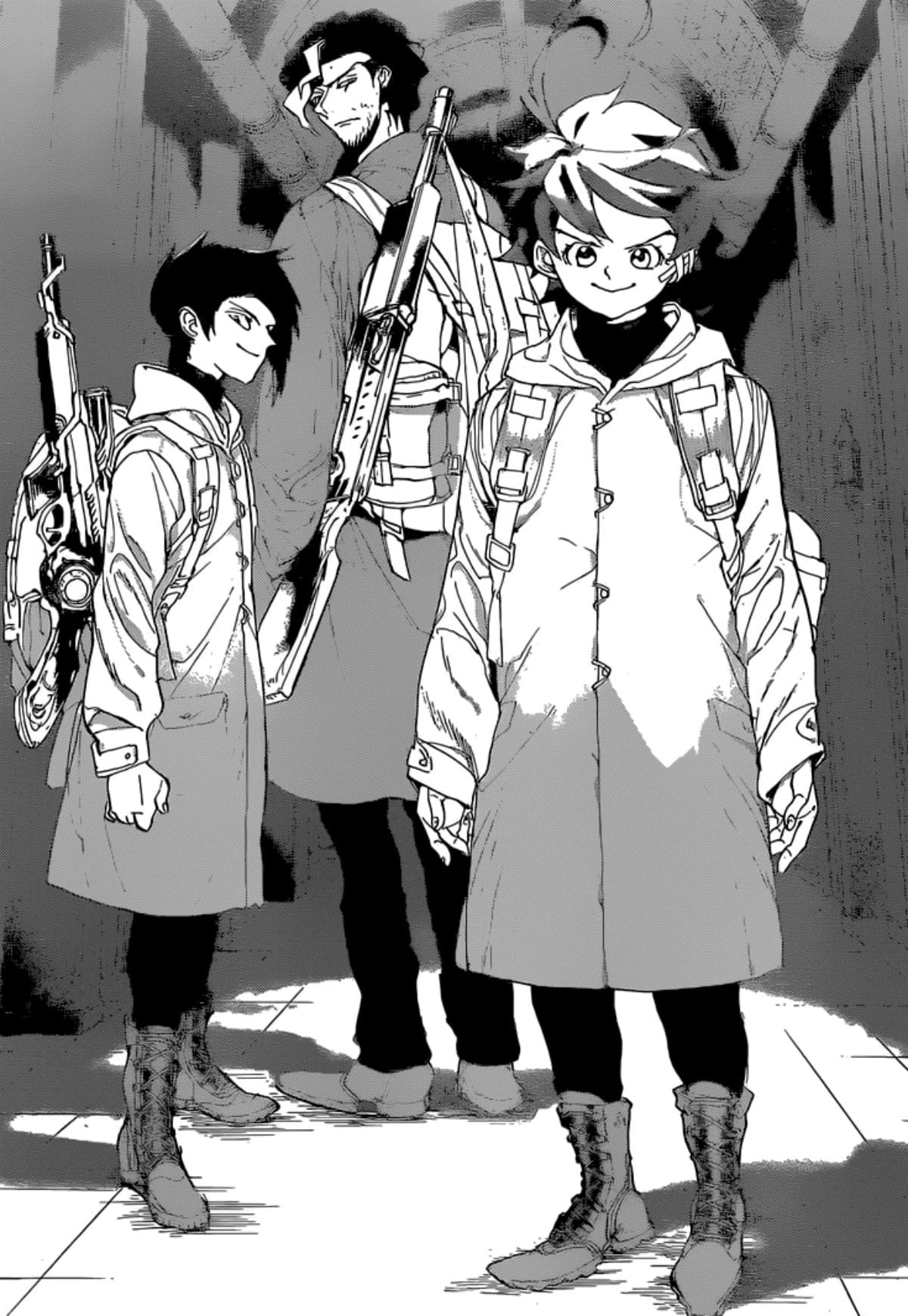 The Promised Neverland Manga Emma Ray Yugo Guns