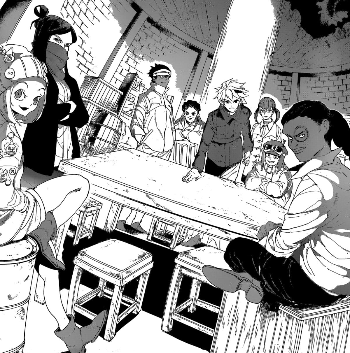 The Promised Neverland Manga Goldy Pond Resistance Characters