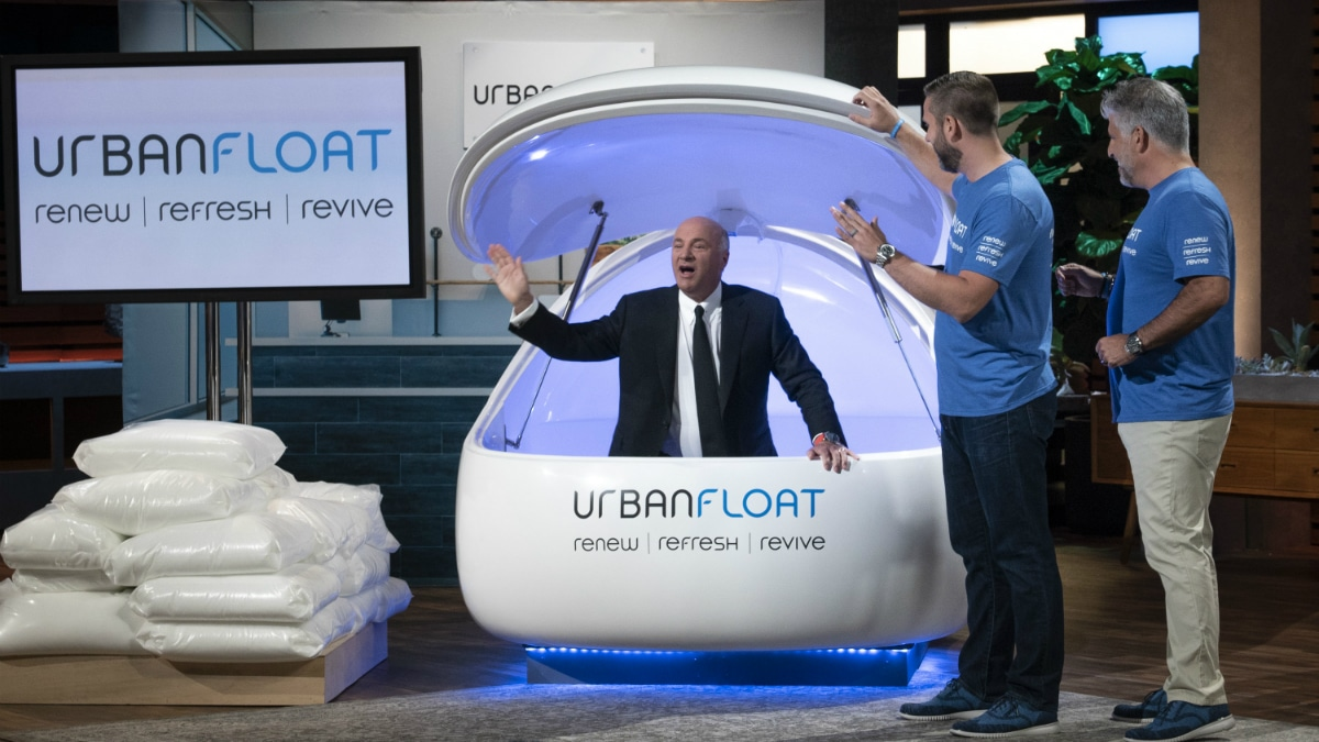 Kevin O'Leary hops in the Urban Float on Shark Tank